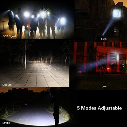 2-Pack-Flashlights-Hausbell-T6-LED-Flashlight-with-3-Modes-for-Camping