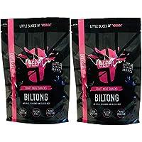 BEEFit Snacks 1kg Teriyaki Biltong, Hohes Protein, Gesund, Wenig Zucker, Nicht Beef Jerky (2x500g)