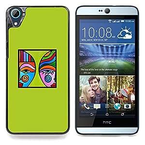 """Azul Verde Arte Moderno Cartel minimalista"""" - Metal de aluminio y de plástico duro Caja del teléfono - Negro - HTC Desire 626 626w 626d 626g 626G dual sim"""