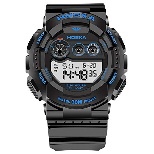 Relojes para NIÑOS Relojes para niños Niños Niños Chicas Deportes Analógico Digital Impermeable LED Luz Naranja Negro Azul Relojes de Pulsera Teenage Junior ...