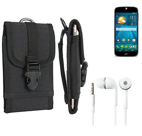 bolsa del cinturón / funda para ACER Liquid Jade S, negro + Auriculares   caja del teléfono cubierta protectora bolso - K-S-Trade (TM)