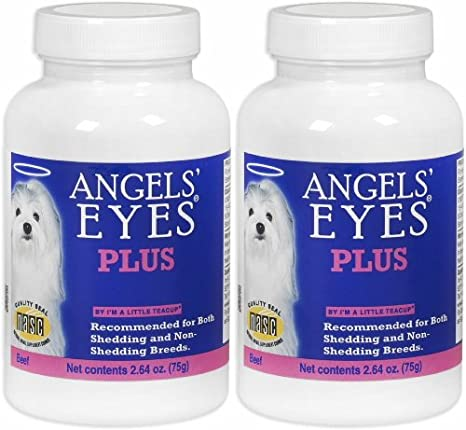 Amazon.com: Angels Ojos Plus Quitamanchas perro Tear, carne ...