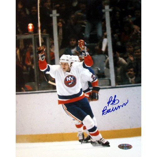 NHL Bob Bourne Arms Raised Celebration 16-by-20-Inch Photograph (Bob Bourne Arms)