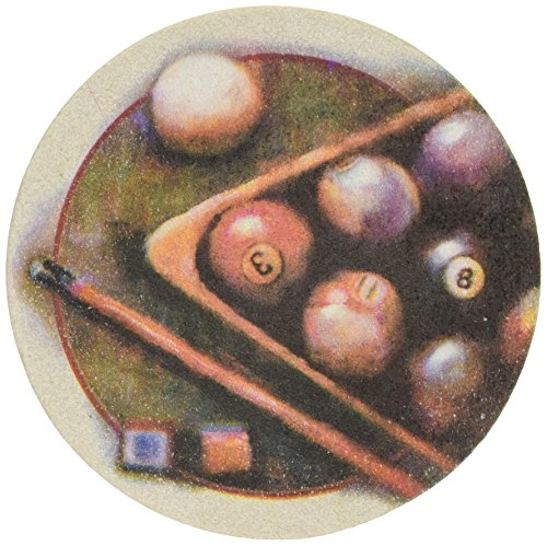 Thirstystone Stoneware Nostalgic Billiards Coaster, Multicolor - Pool Coasters