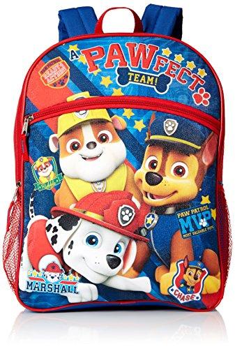 Paw Patrol Boys' 5 in 1 Backpack, Red