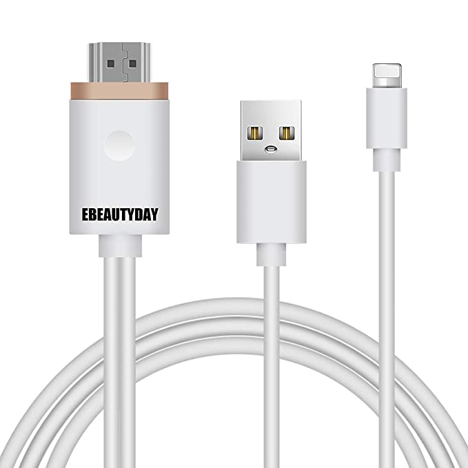 the best attitude ad817 042dd Compatible with iPhone to HDMI Adapter Cable, EBEAUTYDAY HDMI Digital AV  Adapter 1080P HDTV Cord Converter for iPhone Xs Max XR X 8 7 6 Plus iPad  Pro ...