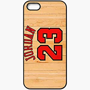 Personalized iPhone 5 5S Cell phone Case/Cover Skin Michael Jordan Chicago Bulls Number Name Nba Basketball Boards Black