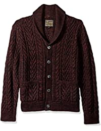 Men's Cable Knit Cardigan Sweater