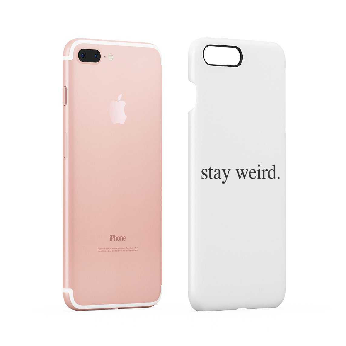 Stay Weird White Tumblr Cool Swag Quote Hard Thin Plastic Phone Case Cover For iPhone 7 Plus & iPhone 8 Plus: Amazon.es: Electrónica