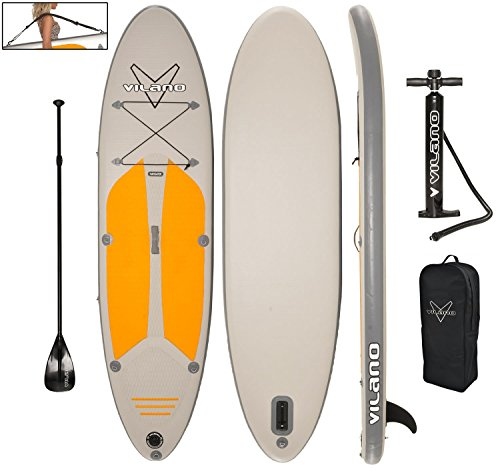 Vilano Navigator 10' (6' Thick) Inflatable SUP Stand Up Paddle Board Package