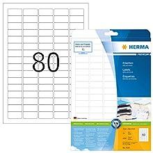 Herma 4336_ A4, 35,6 x 16,9 mm - Pack de 2000 etiquetas, A4, 35.6 x 16.9 mm, color blanco