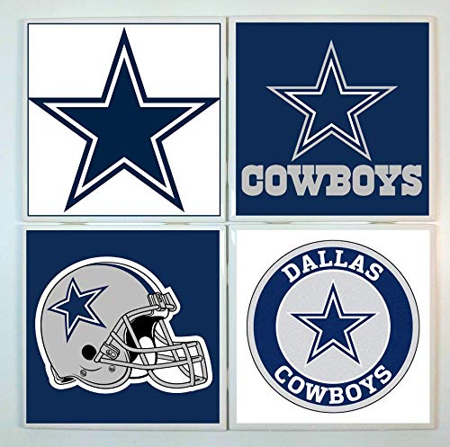 Dallas Cowboys Coasters - set of 4 tile coasters - football