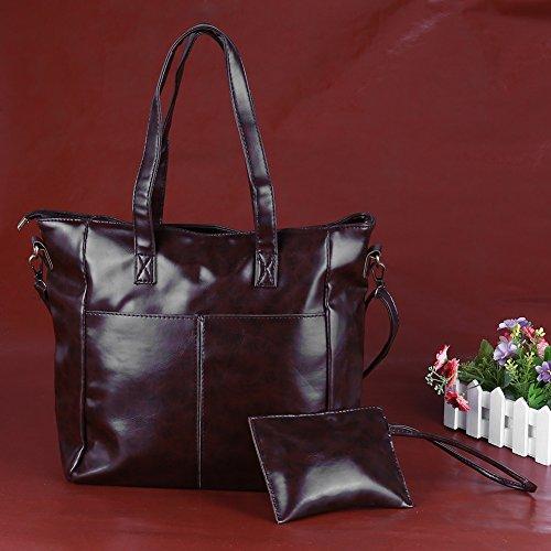 Blue Women Drak Bag PU New Retro Handbag Winter Clutch Leather Autumn Widewing Mini Large 2pcs WpIO4nH6