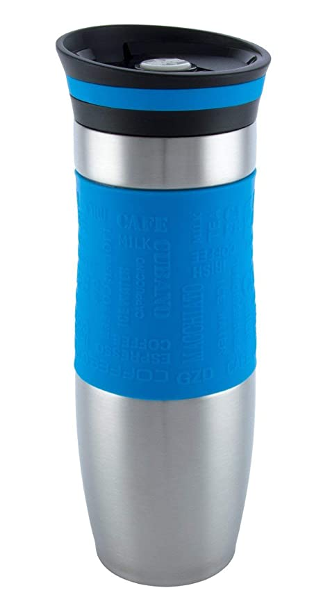d748b17aac Luckyberg Travel Mug, One-Handed Open and Drink Coffee or Tea, Very High