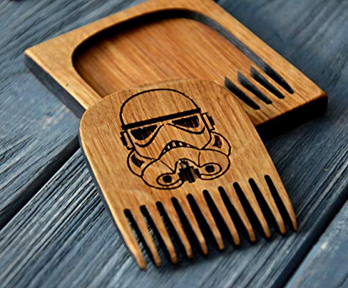 Beard comb wood by Enjoy The Wood moustache