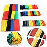328pcs Heat Shrink Tubing Set Polyolefin 2:1 Electrical Wrap Wire Cable Sleeving Kit