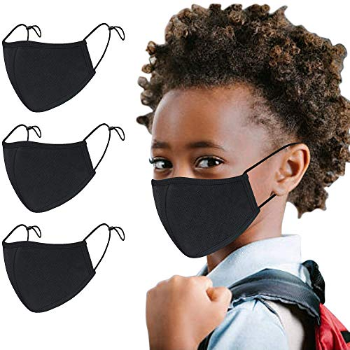 Atzi Hats – Reusable 3 Layer Face Mask, Washable Masks with Adjustable Mask Straps – Great for School Kids & Adults