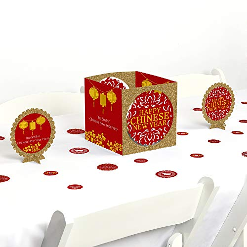 Big Dot of Happiness Chinese New Year - 2019 Year of the Pig Party Centerpiece and Table Decoration Kit -