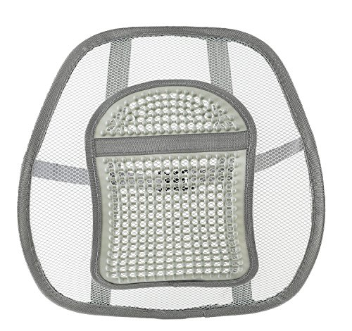 FOMI Lumbar Back Support for Car and Office Chair. Mesh, Breathable, Massage Bead for Extra Comfort, Elastic Tension. Alleviates Lower Back Pain & Promotes Healthy Posture, Corrects Spinal Alignment. - Mouse Pad Kayak