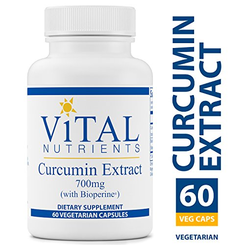 Vital Nutrients – Curcumin Extract 700 mg with Bioperine – Nutritional Support for Normal Tissue Health – 60 Capsules per Bottle
