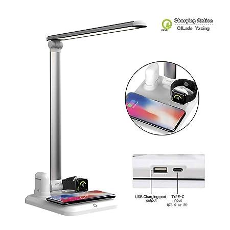 Lámpara de escritorio multifunción 4 en 1 con cargador ...