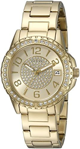 GUESS Women s Stainless Steel Crystal Casual Watch