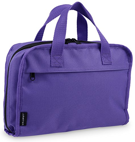 Hanging Toiletry Bag & Cosmetic Organizer - Large Size, See-Through & Lightweight (Medium Purple)