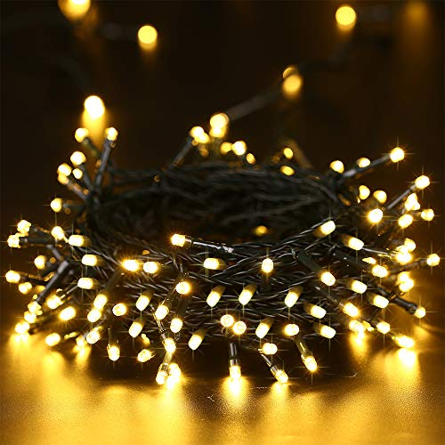 Toodour Solar String Lights 72ft 200 LED 8 Modes Solar Powered Fairy String Lights Waterproof Decorative Led String Lights for Garden, Patio, Home, Wedding, Party, Xmas(Warm White)