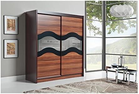 Alma alto Tamaño Grande para puertas de 2 puertas correderas de cocina con estantes para salón o dormitorio o muebles guardarropas: Amazon.es: Hogar