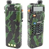 BestFace® BAOFENG Dual Band UV5R Handheld Two Way Radio UHF/VHF 136-174/400-480Mhz 128 Channels FM Ham walkie talkie Transceiver + Upgrade Version 3800mah Battery + Free Earpiece, Built-in VOX Function (Green)