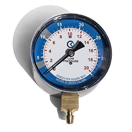 KGAUGE Gas Pressure Testing Kit, 0-35