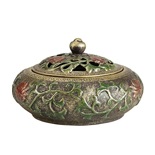 Sufany Ceramic Lotus Flower Incense Holder Burner Handmade Ash Catcher (For Coil/Cone Incense) Style1 by Sufany