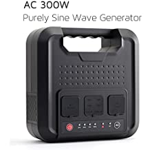 WEIYI 300-Watt Purely Sine Wave Portable Generator Power Station Power Inverter With Outputs 110V AC 12V DC and 5V USB, 60000mAh Battery Generator