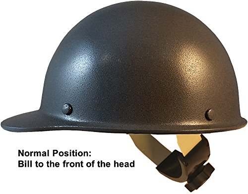 MSA Skull Guard Hard Hat - Fiberglass Cap Style With Swing Suspension - Textured Gunmetal
