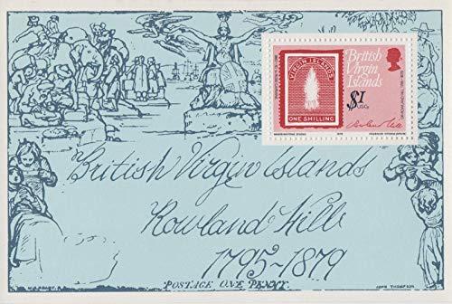 (British Virgin Islands Death Centenary of Sir Rowland Hill Souvenir Sheet, Mint, 363)