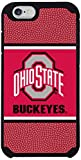 Ohio State Buckeyes Team Color Football Pebble Grain Feel iPhone 6 Case,One Size,Red