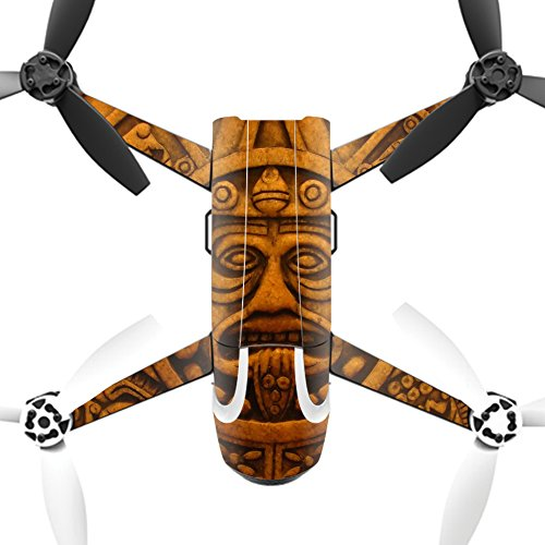 MightySkins Protective Vinyl Skin Decal for Parrot Bebop 2 Quadcopter Drone wrap cover sticker skins Carved Aztec by MightySkins
