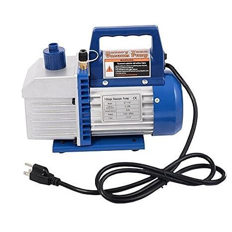 Goplus Vacuum Pump 1//3HP Rotary Vane Deep Refrigerant R410a R134a HVAC AC Air Tool with 1//4 Flare Inlet Port Single Stage 5CFM