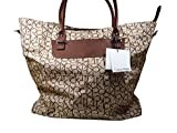 Calvin Klein Brown Tan Luggage Tote Bag