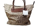 Calvin Klein Brown Tan Luggage Tote Bag
