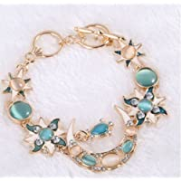 ERAWAN Fashion Sun Moon Star Gold Asymmetry Chain Jewelry Bangle Bracelet Wristband EW sakcharn