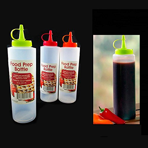2 Pc 12oz Clear Plastic Squeeze Bottle Condiment Ketchup Mustard Oil Mayo - Condiment Squeeze 12 Bottles Oz