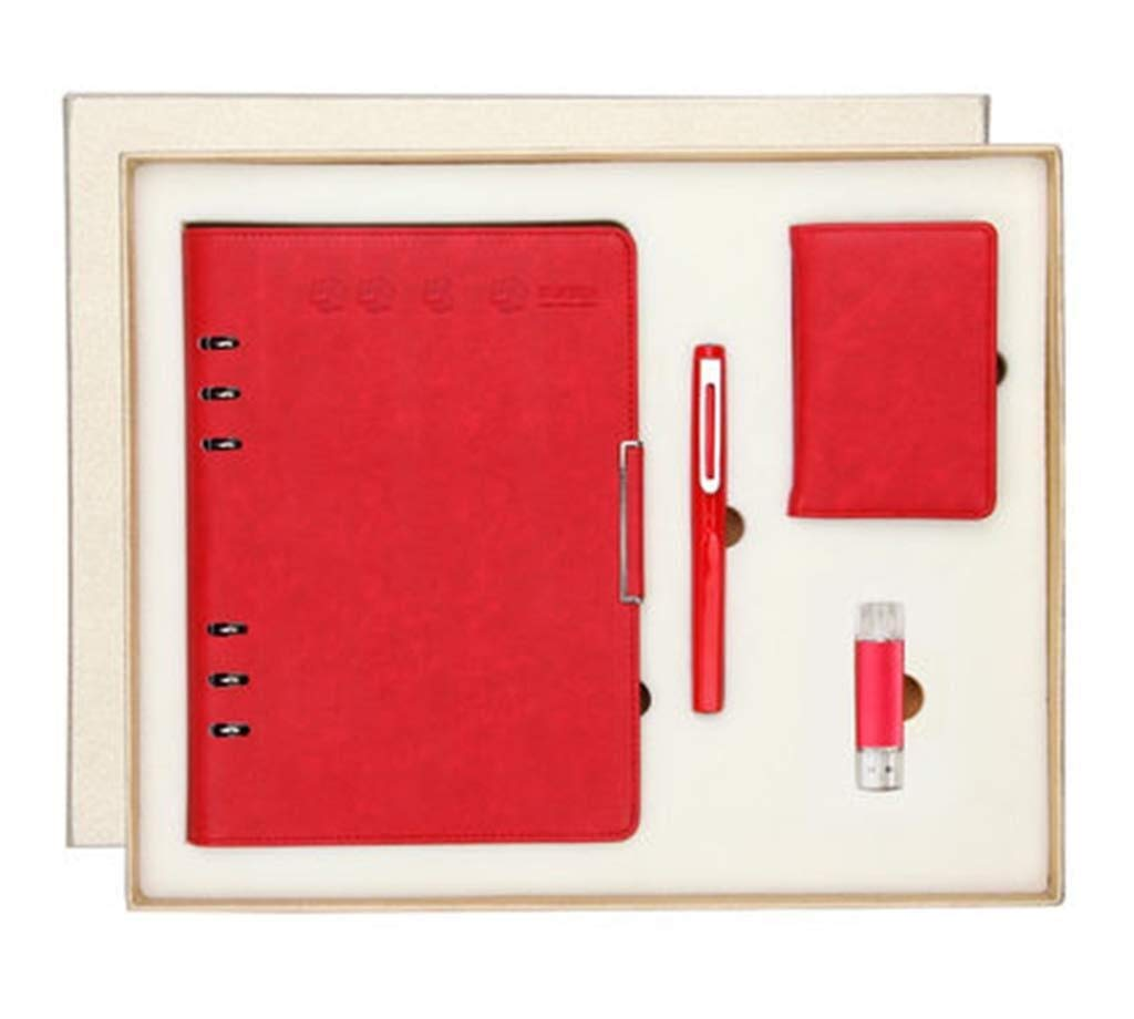 The Company's Annual Meeting Practical Gift Set, Including A5 Notebook Pen Card Package 8GU, Event Holiday Creative Business Gift Customization (Color : A)
