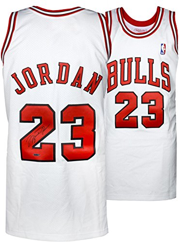 Michael Jordan Chicago Bulls Autographed 1997-98 Mitchell & Ness White Jersey - Upper Deck - Fanatics Authentic Certified (Jordan Jersey Authentic)