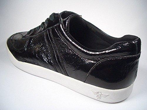 Creative Recreation Milano Select, Premium Herren Sneaker aus Leder, Schwarz-Weiß, CR9210, Größe Euro 42 / US 9 / UK 8 / 27 cm