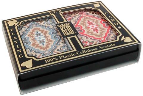 KEM Playing Cards (Paisley, Jumbo Index) by KEM