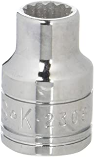 product image for SK Professional Tools 2308 3/8in. Drive 12-Point Metric Standard Chrome Socket - 8mm, Cold Forged Steel Socket with SuperKrome Finish, Made in USA