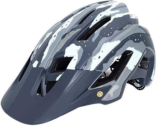 Golden.Y Casco Bicicleta Montaña Carretera Integral con Visera ...