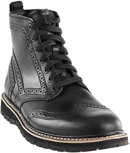 0bcb6bec25d Timberland Mens Britton Hill Wingtip Black Boot - 10