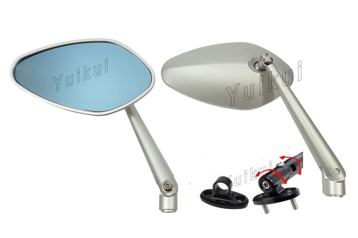 Amazon com: Motorcycle Faring Mirrors CNC Full aluminum fairing